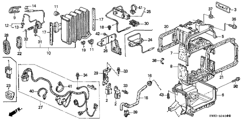 1996 INTEGRA RS 4 DOOR 5MT A/C UNIT (3) diagram