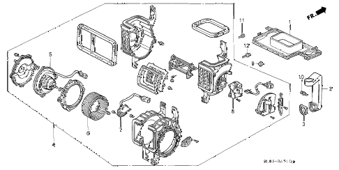 2001 NSX 2 DOOR 6MT HEATER BLOWER diagram