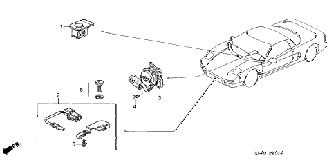 2002 NSX-T 2 DOOR 4AT A/C SENSOR diagram