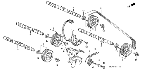 2001 NSX-T 2 DOOR 4AT CAMSHAFT - TIMING BELT diagram