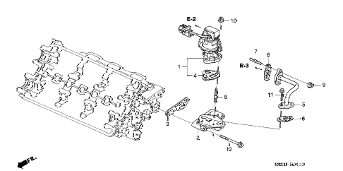 2001 NSX-T 2 DOOR 6MT EGR VALVE diagram