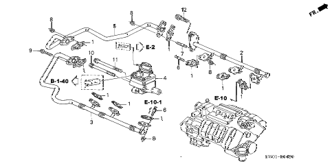 2001 NSX-T 2 DOOR 6MT SECOND AIR VALVE diagram