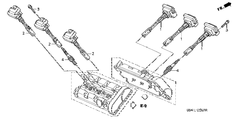 2001 NSX-T 2 DOOR 4AT IGNITION COIL - SPARK PLUG diagram
