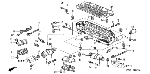 2002 NSX-T 2 DOOR 6MT EXHAUST PIPE (1) diagram