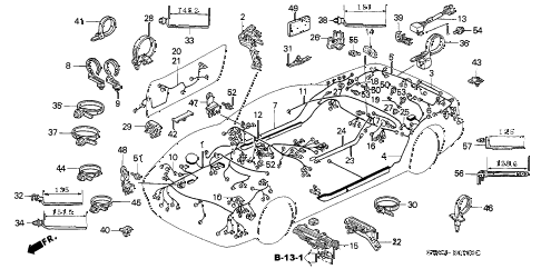 2001 NSX-T 2 DOOR 4AT WIRE HARNESS diagram