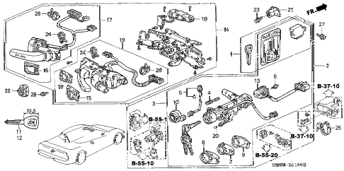 2001 NSX-T 2 DOOR 6MT COMBINATION SWITCH diagram