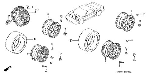 2001 NSX-T 2 DOOR 4AT WHEEL diagram