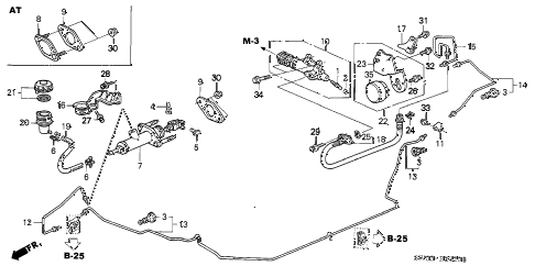 2001 NSX-T 2 DOOR 6MT CLUTCH MASTER CYLINDER diagram