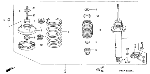 2002 NSX-T 2 DOOR 4AT FRONT SHOCK ABSORBER diagram