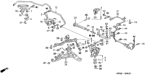 2002 NSX-T 2 DOOR 6MT REAR LOWER ARM diagram