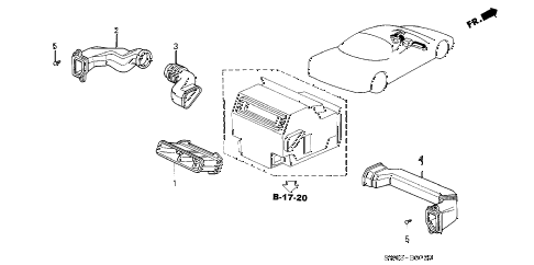 2001 NSX-T 2 DOOR 4AT DUCT diagram