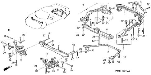 2001 NSX-T 2 DOOR 6MT CROSS BEAM diagram
