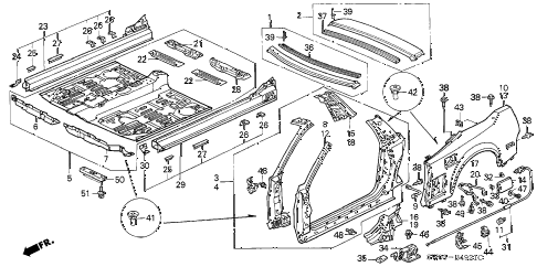 2001 NSX-T 2 DOOR 4AT OUTER PANEL (2) diagram