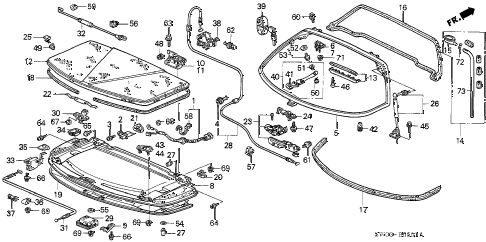 2001 NSX-T 2 DOOR 6MT REAR HATCH (2) diagram