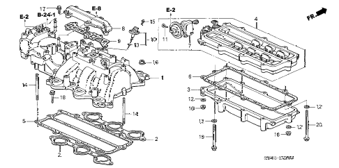 2002 NSX-T 2 DOOR 6MT INTAKE MANIFOLD diagram
