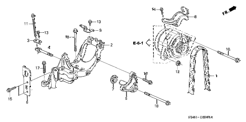 2002 NSX-T 2 DOOR 6MT ALTERNATOR BRACKET diagram
