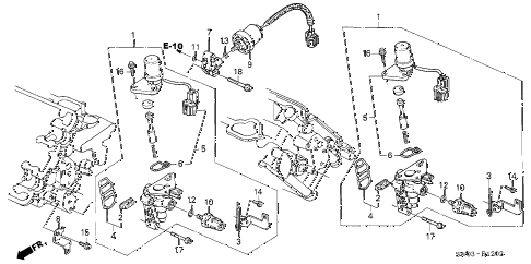 2001 NSX-T 2 DOOR 6MT SPOOL VALVE diagram