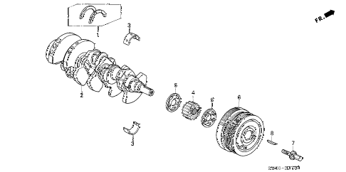 2002 NSX-T 2 DOOR 6MT CRANKSHAFT - PULLEY diagram