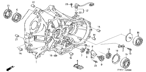 2002 NSX-T 2 DOOR 6MT MT CLUTCH HOUSING diagram