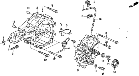 1997 TL BAS3.2 4 DOOR 4AT AT DIFFERENTIAL CARRIER (V6) diagram