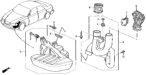 1997 TL PRE2.5 4 DOOR 4AT RESONATOR CHAMBER diagram