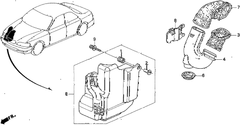 1997 TL BAS3.2 4 DOOR 4AT RESONATOR CHAMBER (V6) diagram