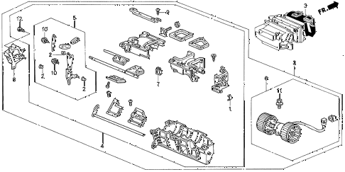 1995 TL BAS2.5 4 DOOR 4AT HEATER BLOWER diagram