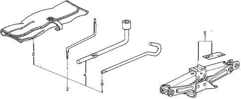 1997 TL PRE2.5 4 DOOR 4AT TOOLS - JACK diagram