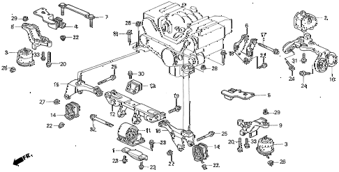 Diagram Of Honda Cr V Rear Suspension also Mercedes Benz C220 1995 Engine Diagram also 2008 Kia Sportage Roof Rack besides Toyota Ta a Differential Diagram further 1996 Honda V6 Engine Diagram. on 1998 honda civic front bumper