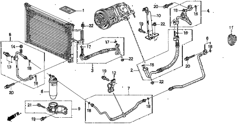1997 TL BAS3.2 4 DOOR 4AT A/C HOSES (V6) diagram