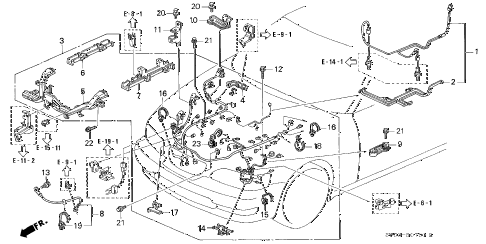 1997 TL BAS3.2 4 DOOR 4AT ENGINE WIRE HARNESS (V6) diagram