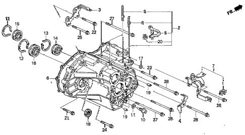 1997 CL PRE2.2 2 DOOR 4AT AT TRANSMISSION HOUSING (1) diagram