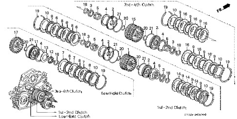 1997 CL PRE2.2 2 DOOR 4AT AT CLUTCH (1) diagram