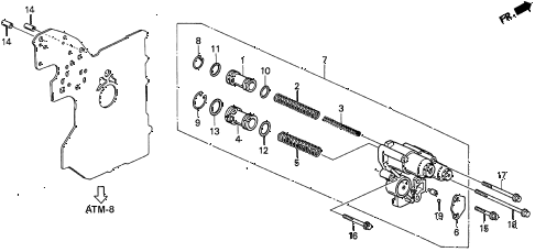 1997 CL PRE2.2 2 DOOR 4AT AT ACCUMULATOR BODY (2) diagram