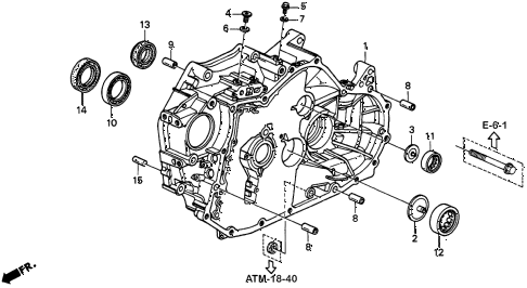 1997 CL BAS3.0 2 DOOR 4AT AT TORQUE CONVERTER HOUSING (3) diagram
