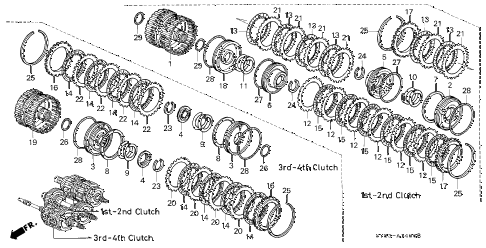 1997 CL PRE3.0 2 DOOR 4AT AT CLUTCH (2) diagram