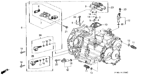 1998 CL BAS3.0 2 DOOR 4AT AT SENSOR - SOLENOID diagram