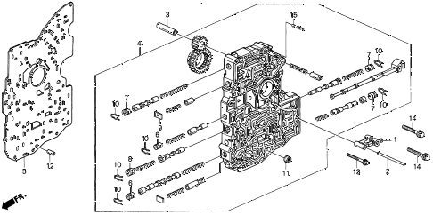 1998 CL BAS3.0 2 DOOR 4AT AT MAIN VALVE BODY (2) diagram
