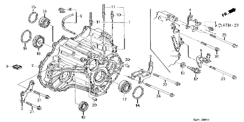 1998 CL BAS2.3 2 DOOR 4AT AT TRANSMISSION HOUSING (3) diagram