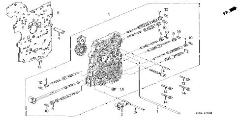 1998 CL PRE2.3 2 DOOR 4AT AT MAIN VALVE BODY (3) diagram