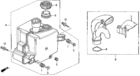 1998 CL PRE2.3 2 DOOR 5MT RESONATOR CHAMBER (1) diagram