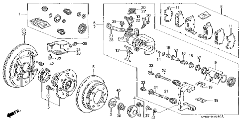 1998 CL BAS2.3 2 DOOR 5MT REAR BRAKE (DISK) diagram