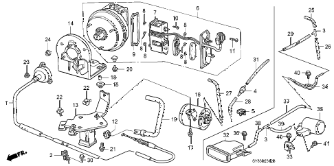 1999 CL PRE2.3 2 DOOR 5MT AUTO CRUISE (3) diagram
