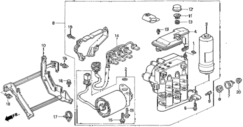 1997 CL BAS3.0 2 DOOR 4AT ABS MODULATOR (2) diagram
