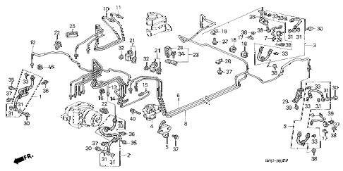 1998 CL PRE2.3 2 DOOR 5MT BRAKE LINES (3) diagram
