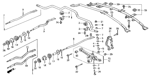 1998 CL PRE2.3 2 DOOR 4AT FRONT LOWER ARM diagram