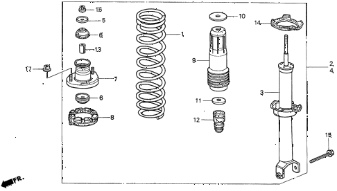1997 CL PRE2.2 2 DOOR 5MT REAR SHOCK ABSORBER diagram
