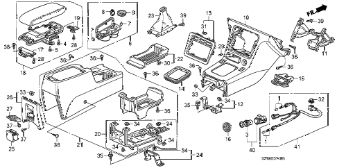 1997 CL PRE2.2 2 DOOR 4AT CONSOLE (1) diagram