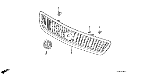 1998 CL BAS2.3 2 DOOR 5MT FRONT GRILLE (2) diagram