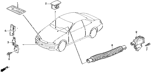 1997 CL BAS3.0 2 DOOR 4AT SENSOR diagram